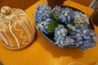 上野剛児さんの鉢と紫陽花 - うつわ楓店主たより
