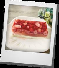 苺ゼリーのレアチーズケーキ - khh style