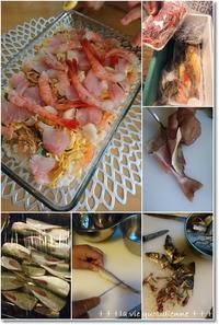 【ダンナさん食堂】市場で買った魚を美味しく調理!と王子…涙涙の水いぼ処置 - 素敵な日々ログ+ la vie quotidienne +