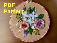 刺繍図案(ダウンロード商品)を販売開始しました。Many flowers in early summer - Yumiko Sakura Embroidery