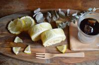 レモンロールケーキ - カンパーニュママの一眼レフ生活とポメプーころすけと日々の出来事日記