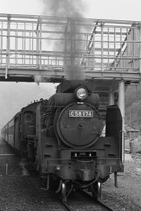 昔、機関区駅で出会った車輌達(22)伯備線 美袋駅 C58174 - 南風・しまんと・剣山 ちょこっと・・・