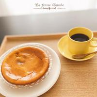 と或る日の『チーズケーキ & SAZA COFFEE』☕️ - 埼玉カルトナージュ教室 ~ La fraise blanche ~ ラ・フレーズ・ブロンシュ