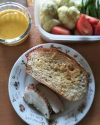 朝ご飯、燻製、野菜の始末、コンポート古・新 - ちゃたろうとゆきまま日記