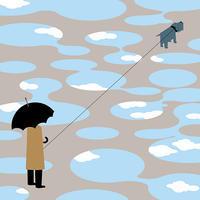 walking with a dog. - Yenpitsu Nemoto  portfolio    ネモト円筆作品集