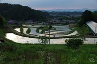 明日香村阪田の夕景 - ぶらり記録 2:奈良・大阪・・・