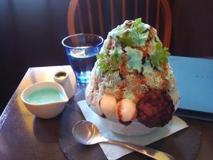 チョコミントかき氷 -
