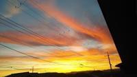 2階の窓からの朝焼け。 - がちゃぴん秀子の日記