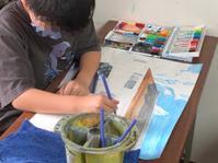稲沢教室、児童コース、絵になる町制作中。 - 大﨑造形絵画教室のブログ