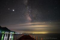 銀河と夜釣り - デジタルで見ていた風景