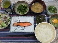 6/20 焼紅鮭辛口ネギ塩TKG with めかぶ、大葉の浅漬け@自宅 - 無駄遣いな日々