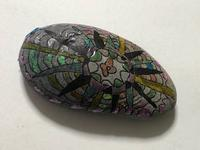 キラキラがポイントです。石。その3。 - 大﨑造形絵画教室のブログ