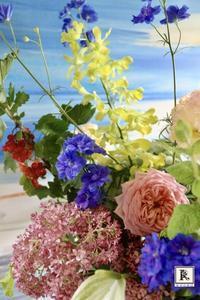 6月の季節のお花便りはけむり草にすぐりの赤い実、紫陽花に。 - Bouquets_ryoko