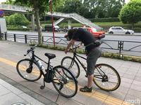 自転車漕いで会社集合 - Photolog