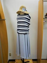 ジメッとした日はさわやかに!! ボーダニット×ロングスカート - Bashamichi's Blog
