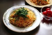 明太子パスタとトウモロコシ - 満足満腹 お茶とごはん2