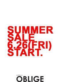 『SUMMER  SALE 』6/26 START! - 山梨県・甲府市 ファッションセレクトショップ OBLIGE womens【オブリージュ】