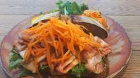 今日の朝食_ローストポークとわさびソースのオープンサンド - Hanakenhana's Blog