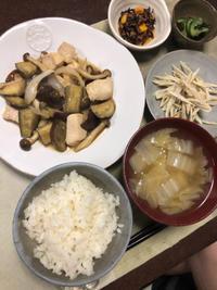 鶏肉とナスのオイスター炒め - 庶民のショボい食卓