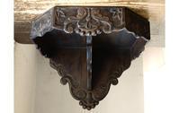 木彫刻 ウォールコンソール 飾り棚 / H078 - Glicinia 古道具店