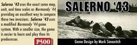 GMTの最新P-500『Salerno '43』は、我らが長年熱望してきたイタリア戦役、サレルノ上陸⇒カッシノ(グスタフ線突破)攻防戦⇒アンツィオ上陸からローマ陥落に至る3部作の第1弾だった!! - YSGA 例会報告