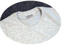 AURALEE ::: SEAMLESS Crew neck T-shirt(L.gray) - minca's sweet little things
