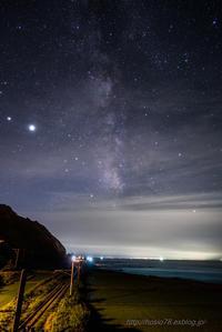 線路のある星空 - デジタルで見ていた風景