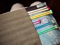 編み棒をしまう袋 - ないものを あるもので