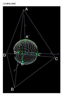 基本編(20)正四面体と球面 - 齊藤数学教室のお弟子さんを取ります。年令実力は問わず。