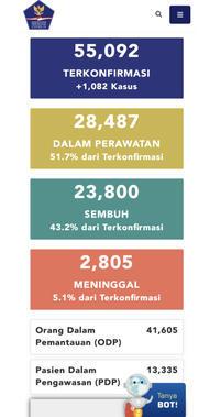 6月29日(月)の集計インドネシア政府発表より - 手相占い ときどき本と水槽とその他