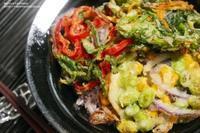 【新行事食】夏越の祓の夏越ごはん~さっぱりとしそポン酢飯で夏野菜の塩天丼。 - スパイスと薬膳と。