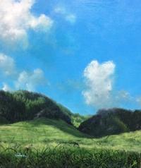 風景画にサインが入りました(その2) - ポッと出っスけど杉山ひとみ/水彩画ブログ
