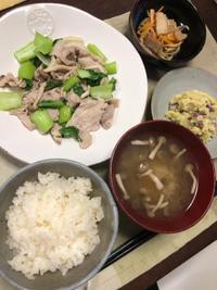 豚肉とチンゲン菜の炒め物 - 庶民のショボい食卓