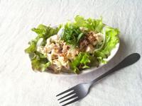 鯖缶と豆腐の、和風サラダ - Minha Praia