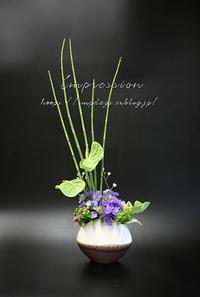 定期装花からスプレーデルフィニューム:サファイアラベンダー - Impression Days