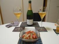 シマアジ〜地ビールと奥野田桜沢ブリュット飲みました。ワイン編。 - のび丸亭の「奥様ごはんですよ」日本ワインと日々の料理