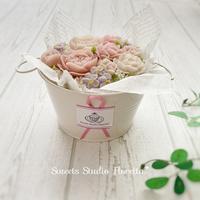 New Lesson!ボックスフラワーケーキレッスン - Sweets Studio Floretta* Flower Cake & Sweets Class@SHIGA