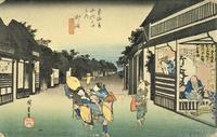 御油・赤坂(広重『東海道五十三次』18) - 気ままに江戸♪  散歩・味・読書の記録