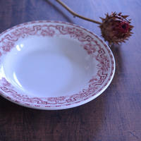 ◆フランスアンティーク*赤いお皿とパンケーキ - フランス雑貨とデコパージュ&ギフトラッピング教室 『meli-melo鎌倉』