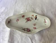 花柄白磁ひし形プレート56 - スペイン・バルセロナ・アンティーク gyu's shop