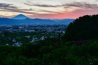 夕焼け富士山 - 風とこだま
