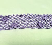 編み進めています♪ - ルーマニアン・マクラメに魅せられて