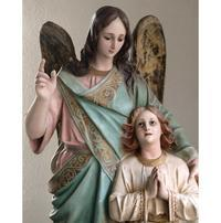 守護天使と幼子像 79.5cm ガーディアンエンジェル  /H056 - Glicinia 古道具店
