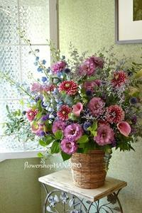 新店OPENのお祝いフラワーアレンジメント。 - 花色~あなたの好きなお花屋さんになりたい~