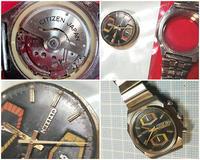 CITIZENクロノグラフ機械式自動巻き時計の分解清掃 - スポック艦長のPhoto Diary
