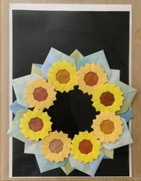 折り紙リース・ひまわり - 日々綴り
