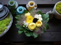 お誕生日のアレンジメント。「活発な感じ」。2020/07/03。 - 札幌 花屋 meLL flowers