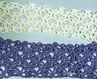 編み進めています♪2 - ルーマニアン・マクラメに魅せられて