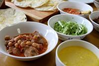 ポークビーンズとタコスとトウモロコシのスープな昼餉 - ぶん屋の抽斗