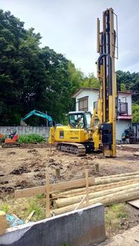 間伐材を使った環境にやさしい地盤改良です! - 暮らしと心地いい住まい